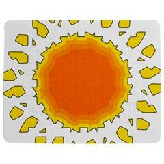 Sun Hot Orange Yrllow Light Jigsaw Puzzle Photo Stand (rectangular) by Alisyart