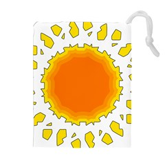 Sun Hot Orange Yrllow Light Drawstring Pouches (extra Large) by Alisyart