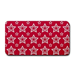 Star Red White Line Space Medium Bar Mats by Alisyart