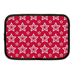 Star Red White Line Space Netbook Case (medium)  by Alisyart