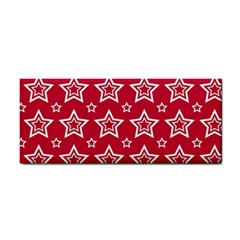 Star Red White Line Space Cosmetic Storage Cases by Alisyart