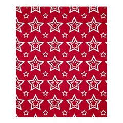 Star Red White Line Space Shower Curtain 60  X 72  (medium)  by Alisyart