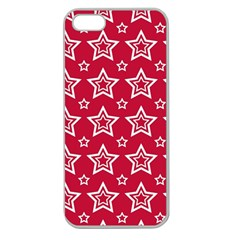Star Red White Line Space Apple Seamless Iphone 5 Case (clear) by Alisyart