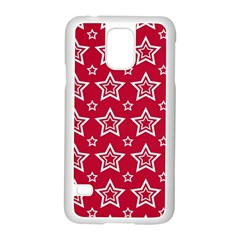 Star Red White Line Space Samsung Galaxy S5 Case (white) by Alisyart