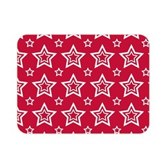 Star Red White Line Space Double Sided Flano Blanket (mini)  by Alisyart