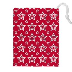 Star Red White Line Space Drawstring Pouches (xxl) by Alisyart