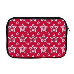 Star Red White Line Space Apple Macbook Pro 17  Zipper Case by Alisyart