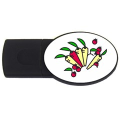 Tomatoes Carrots Usb Flash Drive Oval (2 Gb) by Alisyart