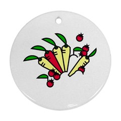 Tomatoes Carrots Round Ornament (two Sides) by Alisyart
