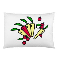 Tomatoes Carrots Pillow Case (two Sides)