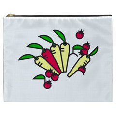 Tomatoes Carrots Cosmetic Bag (xxxl)  by Alisyart