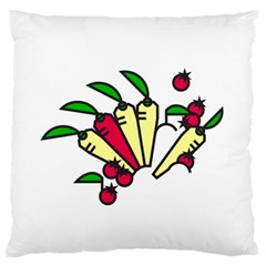 Tomatoes Carrots Large Flano Cushion Case (one Side) by Alisyart