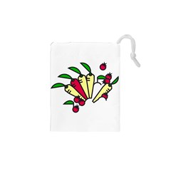 Tomatoes Carrots Drawstring Pouches (xs)  by Alisyart