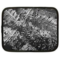 Fern Raindrops Spiderweb Cobweb Netbook Case (large) by Simbadda