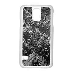 Fern Raindrops Spiderweb Cobweb Samsung Galaxy S5 Case (white) by Simbadda