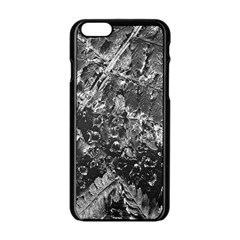 Fern Raindrops Spiderweb Cobweb Apple Iphone 6/6s Black Enamel Case by Simbadda