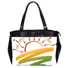 Sunset Spring Graphic Red Gold Orange Green Office Handbags (2 Sides)