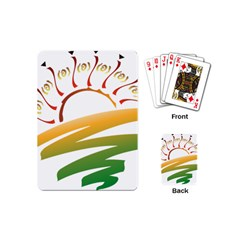 Sunset Spring Graphic Red Gold Orange Green Playing Cards (mini)  by Alisyart
