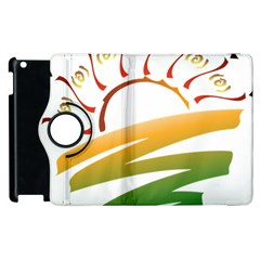 Sunset Spring Graphic Red Gold Orange Green Apple Ipad 2 Flip 360 Case by Alisyart