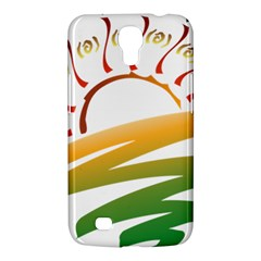 Sunset Spring Graphic Red Gold Orange Green Samsung Galaxy Mega 6 3  I9200 Hardshell Case by Alisyart