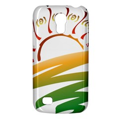 Sunset Spring Graphic Red Gold Orange Green Galaxy S4 Mini by Alisyart