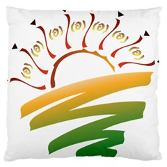 Sunset Spring Graphic Red Gold Orange Green Standard Flano Cushion Case (one Side) by Alisyart