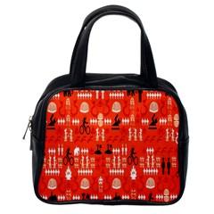 Traditional Wayang Classic Handbags (one Side) by Alisyart