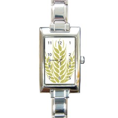 Tree Wheat Rectangle Italian Charm Watch by Alisyart