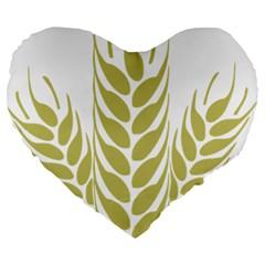 Tree Wheat Large 19  Premium Flano Heart Shape Cushions by Alisyart