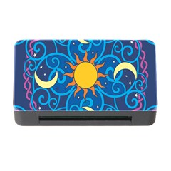 Sun Moon Star Space Purple Pink Blue Yellow Wave Memory Card Reader With Cf by Alisyart