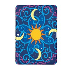 Sun Moon Star Space Purple Pink Blue Yellow Wave Samsung Galaxy Tab 2 (10 1 ) P5100 Hardshell Case  by Alisyart