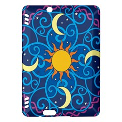 Sun Moon Star Space Purple Pink Blue Yellow Wave Kindle Fire Hdx Hardshell Case by Alisyart