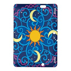 Sun Moon Star Space Purple Pink Blue Yellow Wave Kindle Fire Hdx 8 9  Hardshell Case by Alisyart