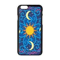Sun Moon Star Space Purple Pink Blue Yellow Wave Apple Iphone 6/6s Black Enamel Case by Alisyart