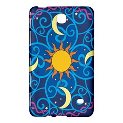 Sun Moon Star Space Purple Pink Blue Yellow Wave Samsung Galaxy Tab 4 (7 ) Hardshell Case  by Alisyart