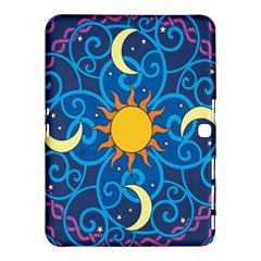 Sun Moon Star Space Purple Pink Blue Yellow Wave Samsung Galaxy Tab 4 (10 1 ) Hardshell Case  by Alisyart