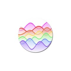 Twizzling Brain Waves Neon Wave Rainbow Color Pink Red Yellow Green Purple Blue Golf Ball Marker (4 Pack) by Alisyart