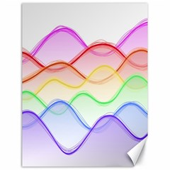 Twizzling Brain Waves Neon Wave Rainbow Color Pink Red Yellow Green Purple Blue Canvas 18  X 24   by Alisyart