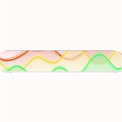 Twizzling Brain Waves Neon Wave Rainbow Color Pink Red Yellow Green Purple Blue Small Bar Mats by Alisyart