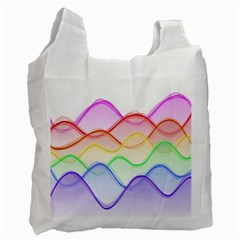 Twizzling Brain Waves Neon Wave Rainbow Color Pink Red Yellow Green Purple Blue Recycle Bag (one Side) by Alisyart