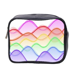 Twizzling Brain Waves Neon Wave Rainbow Color Pink Red Yellow Green Purple Blue Mini Toiletries Bag 2 Side by Alisyart