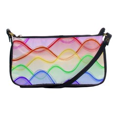 Twizzling Brain Waves Neon Wave Rainbow Color Pink Red Yellow Green Purple Blue Shoulder Clutch Bags by Alisyart