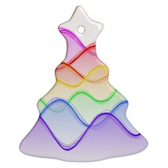 Twizzling Brain Waves Neon Wave Rainbow Color Pink Red Yellow Green Purple Blue Ornament (christmas Tree)  by Alisyart
