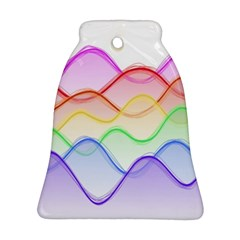 Twizzling Brain Waves Neon Wave Rainbow Color Pink Red Yellow Green Purple Blue Bell Ornament (two Sides) by Alisyart