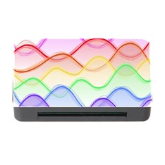 Twizzling Brain Waves Neon Wave Rainbow Color Pink Red Yellow Green Purple Blue Memory Card Reader With Cf by Alisyart