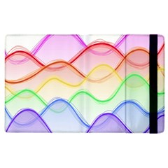 Twizzling Brain Waves Neon Wave Rainbow Color Pink Red Yellow Green Purple Blue Apple Ipad 3/4 Flip Case by Alisyart