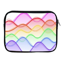 Twizzling Brain Waves Neon Wave Rainbow Color Pink Red Yellow Green Purple Blue Apple Ipad 2/3/4 Zipper Cases by Alisyart