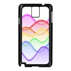Twizzling Brain Waves Neon Wave Rainbow Color Pink Red Yellow Green Purple Blue Samsung Galaxy Note 3 N9005 Case (black)