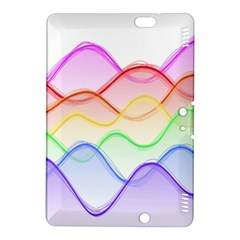 Twizzling Brain Waves Neon Wave Rainbow Color Pink Red Yellow Green Purple Blue Kindle Fire Hdx 8 9  Hardshell Case by Alisyart