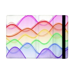 Twizzling Brain Waves Neon Wave Rainbow Color Pink Red Yellow Green Purple Blue Ipad Mini 2 Flip Cases by Alisyart